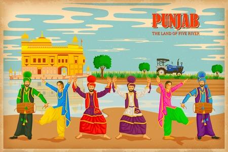 illustratie beeltenis van de cultuur van India