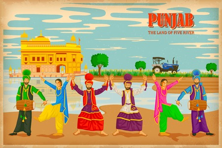 illustration depicting the culture of , India Vector