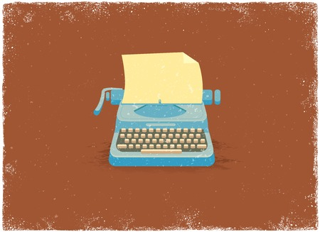 typewriter machine: Antique typewriter in vintage vector style Illustration