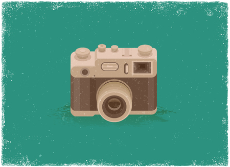 old photograph: Antique camera in vintage vector style Illustration