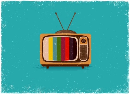 old tv: Antique television in vintage vector style Illustration