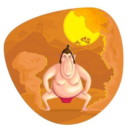 illustration de lutteur de sumo dans le vecteur