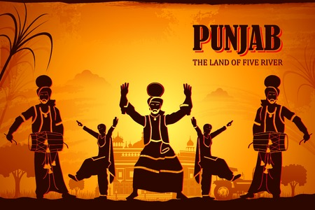 illustration depicting the culture of Punjab, India Banco de Imagens