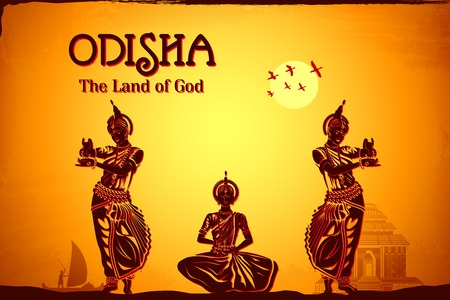 india dance: illustration depicting the culture of Odisha, India