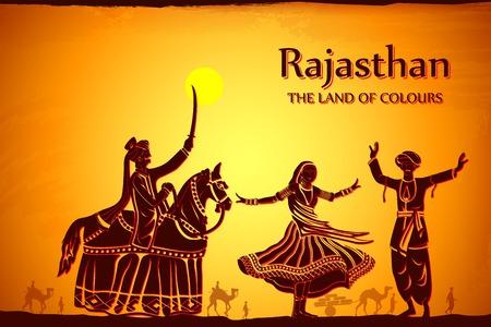 illustratie beeltenis van de cultuur van Rajasthan, India