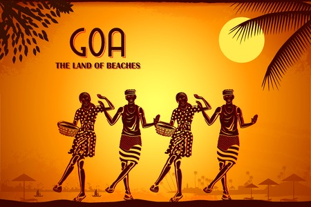 indian festival: illustration depicting the culture of Goa, India Stock Photo