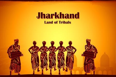 Illustrazione raffigurante la cultura di Jharkhand, India Archivio Fotografico - 29413534
