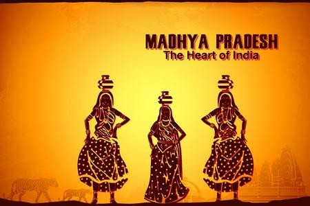 마디 아 프라데시, 인도의 문화를 묘사하는 그림