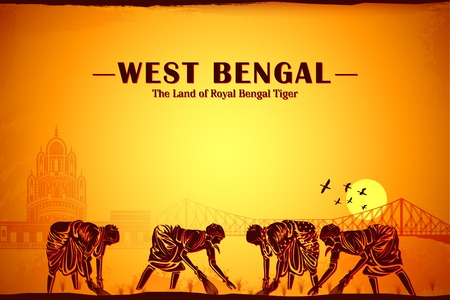 monument in india: illustration depicting the culture of West Bengal, India Stock Photo