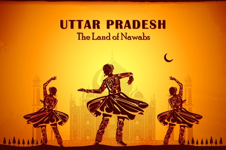 우타르 프라데시 주 인도의 문화를 묘사하는 그림 스톡 콘텐츠