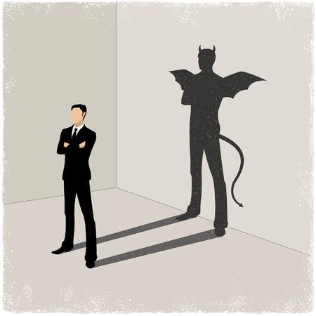 symbols metaphors:  shadow in vector