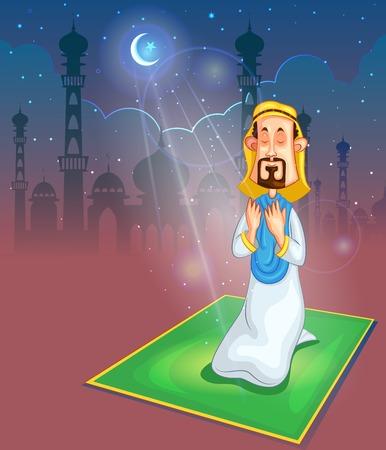 muslim prayer: Muslim offering namaaz on Eid