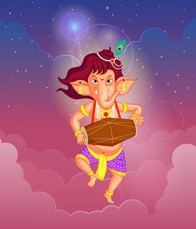lord: Seigneur Ganesha dans le vecteur pour Happy Ganesh Chaturthi