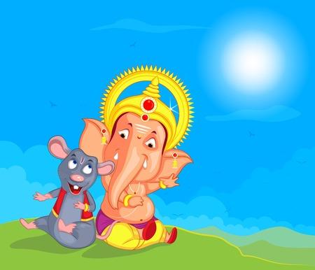 mangal: Lord Ganesha in vector for Happy Ganesh Chaturthi