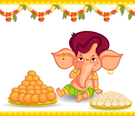 lord ganesha: Lord Ganesha in vector for Happy Ganesh Chaturthi