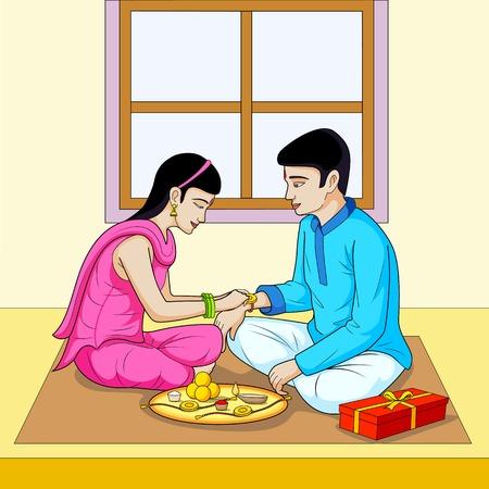 raksha: Raksha Bandhan, brother and sister festival India