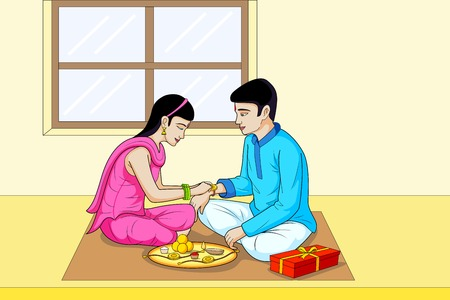 raksha: Raksha Bandhan, brother and sister festival India