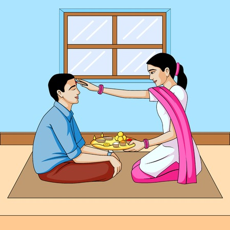 Bhai Dooj, broer en zus festival India