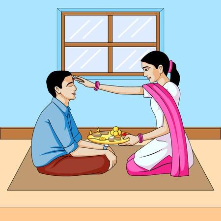 Bhai dooj, brother and sister festival India