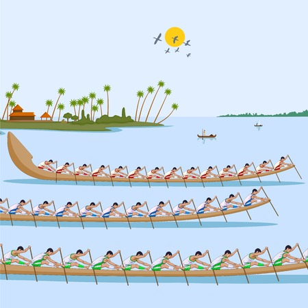kerala culture: Boat race of Kerala for Onam celebration