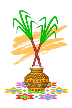 Happy Pongal Celebration Vector