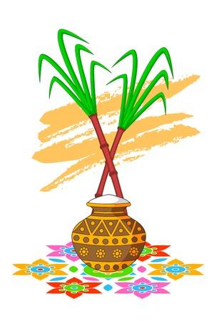 asian happy family: Happy Pongal Celebration
