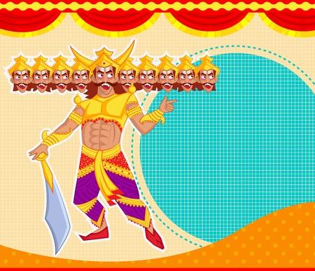 dussehra: Ravana with ten head for Dussehra in vector