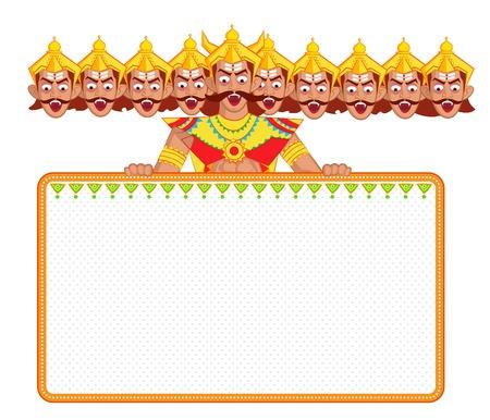 ravana: Ravana with ten head for Dussehra in vector