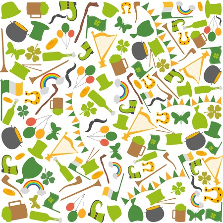 Saint Patricks Day seamless background in vector Vector