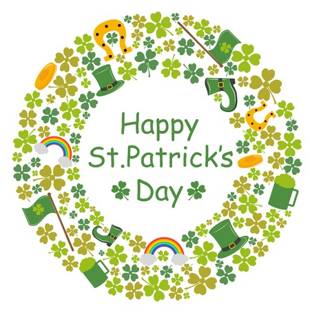 saint patrick's day: Saint Patricks Day background in vector