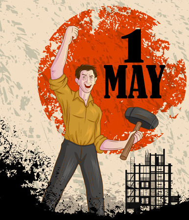 national freedom day: Happy May Day celebration in vector