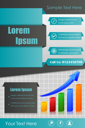 advertisment: Business flyer for advertisment and promotion in vector
