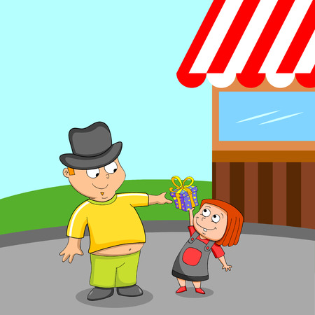 fatherhood: Happy Fathers Day greeting background in vector Illustration