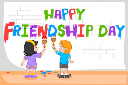 brother brotherhood: Friendship Day background with friends in vector Illustration