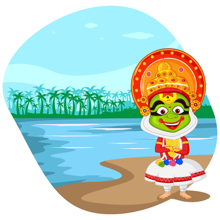 onam: Kathakali dancer wishing Happy Onam
