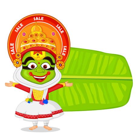 kathakali: Kathakali dancer wishing Happy Onam