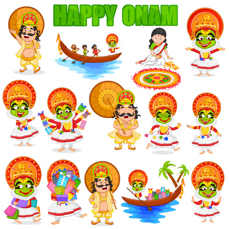 King Mahabali for Onam festival, India