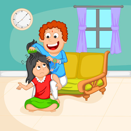 raksha: Brother and Sister in Raksha Bandhan  Illustration