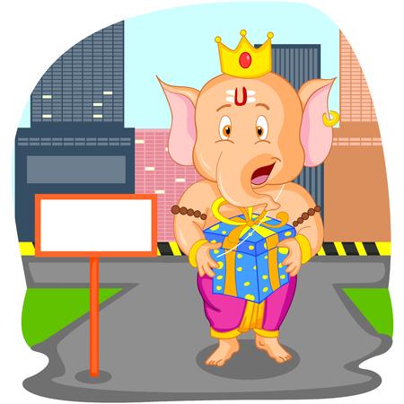 ganpati: Lord Ganesha in vector for Happy Ganesh Chaturthi sale offer
