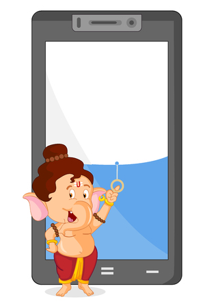 lord: Lord Ganesha in vector for Happy Ganesh Chaturthi sale offer