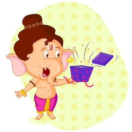 ganesh: Señor Ganesha en el vector de feliz Ganesh Chaturthi oferta de venta