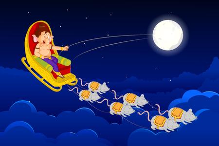 seigneur: Seigneur Ganesha dans le vecteur pour Happy Ganesh Chaturthi