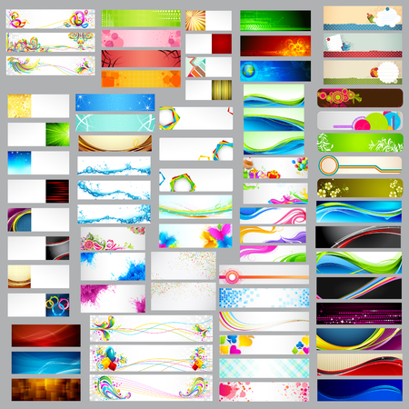 jumbo: illustration of colorful banner jumbo collection for header and promotional activity