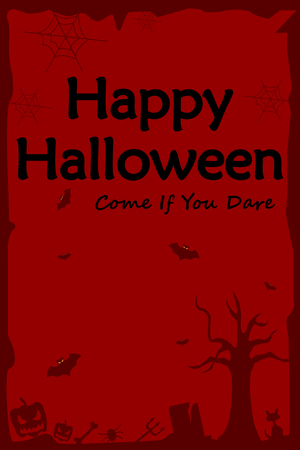 holiday background: Happy Halloween holiday celebration background in vector Illustration