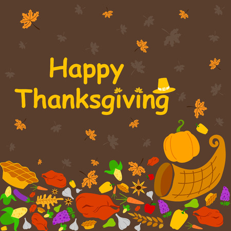 Happy thanksgiving holiday greeting card in vector royalty free happy thanksgiving holiday greeting card in vector stock vector 48513418 m4hsunfo