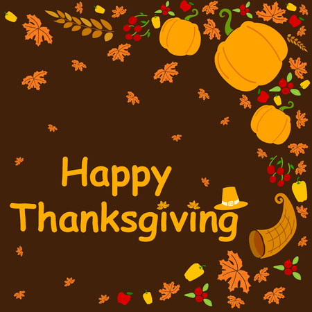 Happy thanksgiving holiday greeting card in vector royalty free happy thanksgiving holiday greeting card in vector stock vector 48513420 m4hsunfo