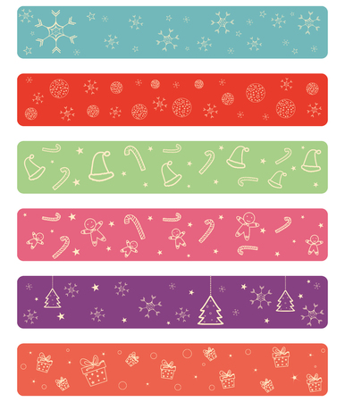 new year's cap: Merry Christmas celebration border and decoration frame in vector