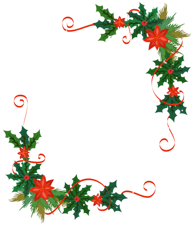 frame vector: Merry Christmas celebration border and decoration frame in vector