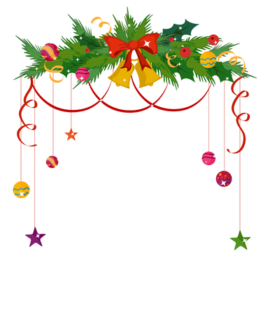 christmas gifts: Merry Christmas celebration border and decoration frame in vector