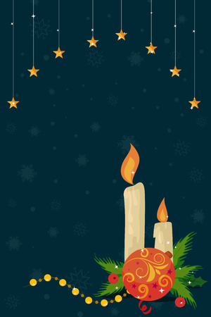 christmas star: Merry Christmas celebration border and decoration frame in vector